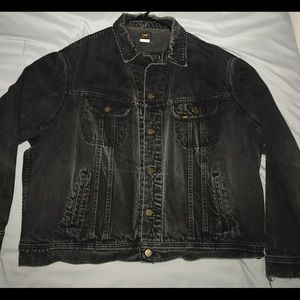 Lee Vintage Raiders Black Jean Jacket